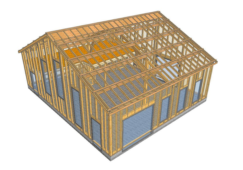Plounevez : conception d'une salle des fêtes dans une grange