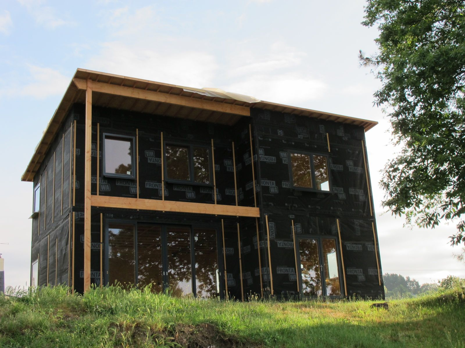 Maison en roseaux Bois Paille Ingénierie