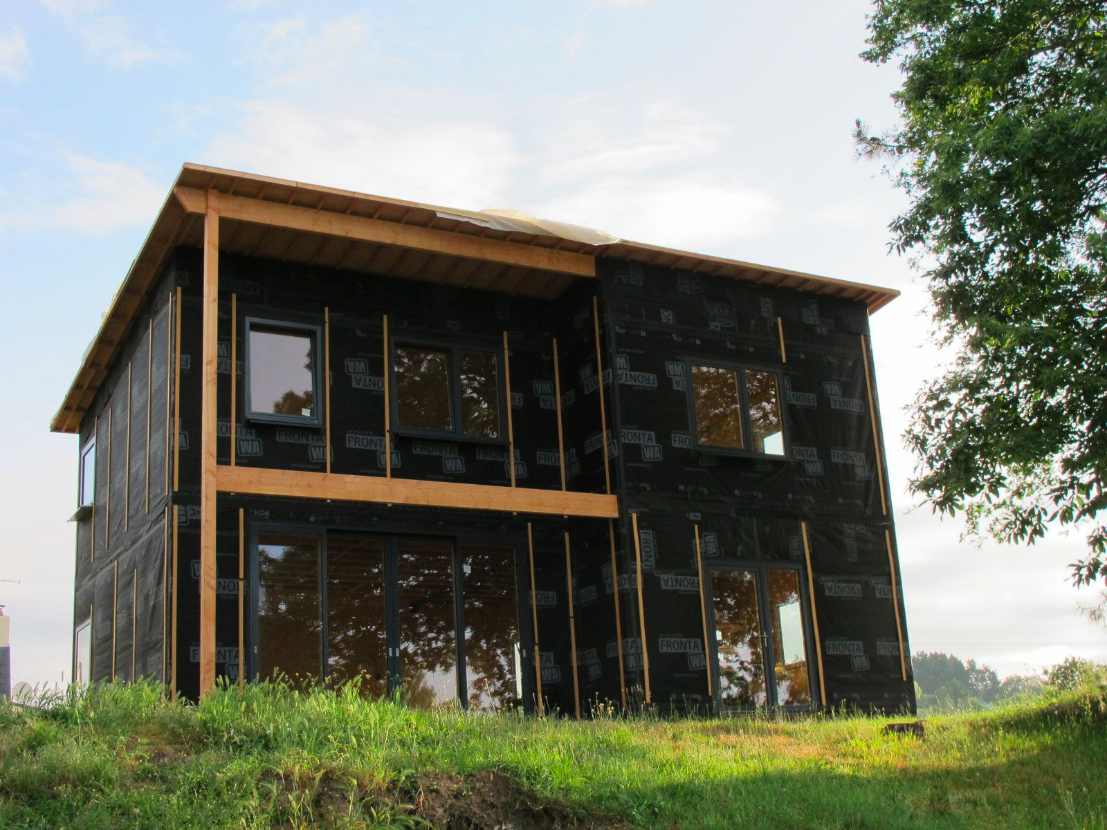 Construction maison en roseaux